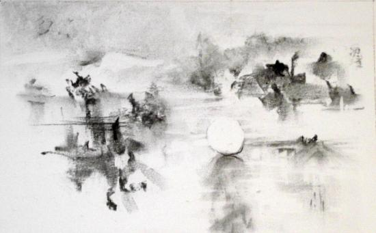 Boule de neige (fusain)