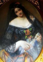 Gratia charles louis femme a la mantille 1864
