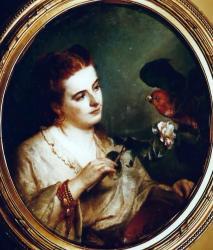Gratia charles louis femme a la perruche 1868