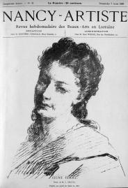 Gratia charles louis jeune femme d apres son pastel 1887