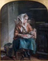 Gratia charles louis jeune fille lisant a sa poupee 1896