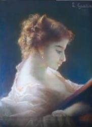 Gratia charles louis la liseuse 1858