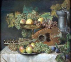 Gratia charles louis nature morte a la mandoline 1852