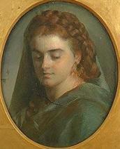 Gratia charles louis portrait de femme avec voile
