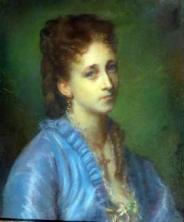Gratia charles louis portrait de jeune femme en bleu 1888