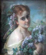 Gratia charles louis portrait de jeune fille aux lilas 1882
