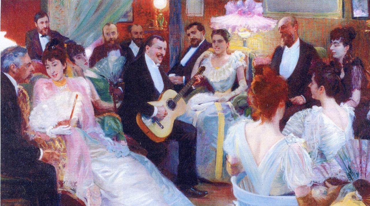 La belle poque for Belle peinture pour un salon
